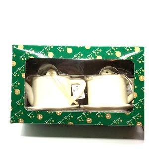 Dillard's Trimmings Ornaments Teapot Cream Xmas